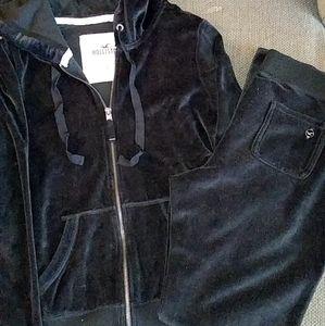 2pc Hollister SweatSuit Black SZ Large